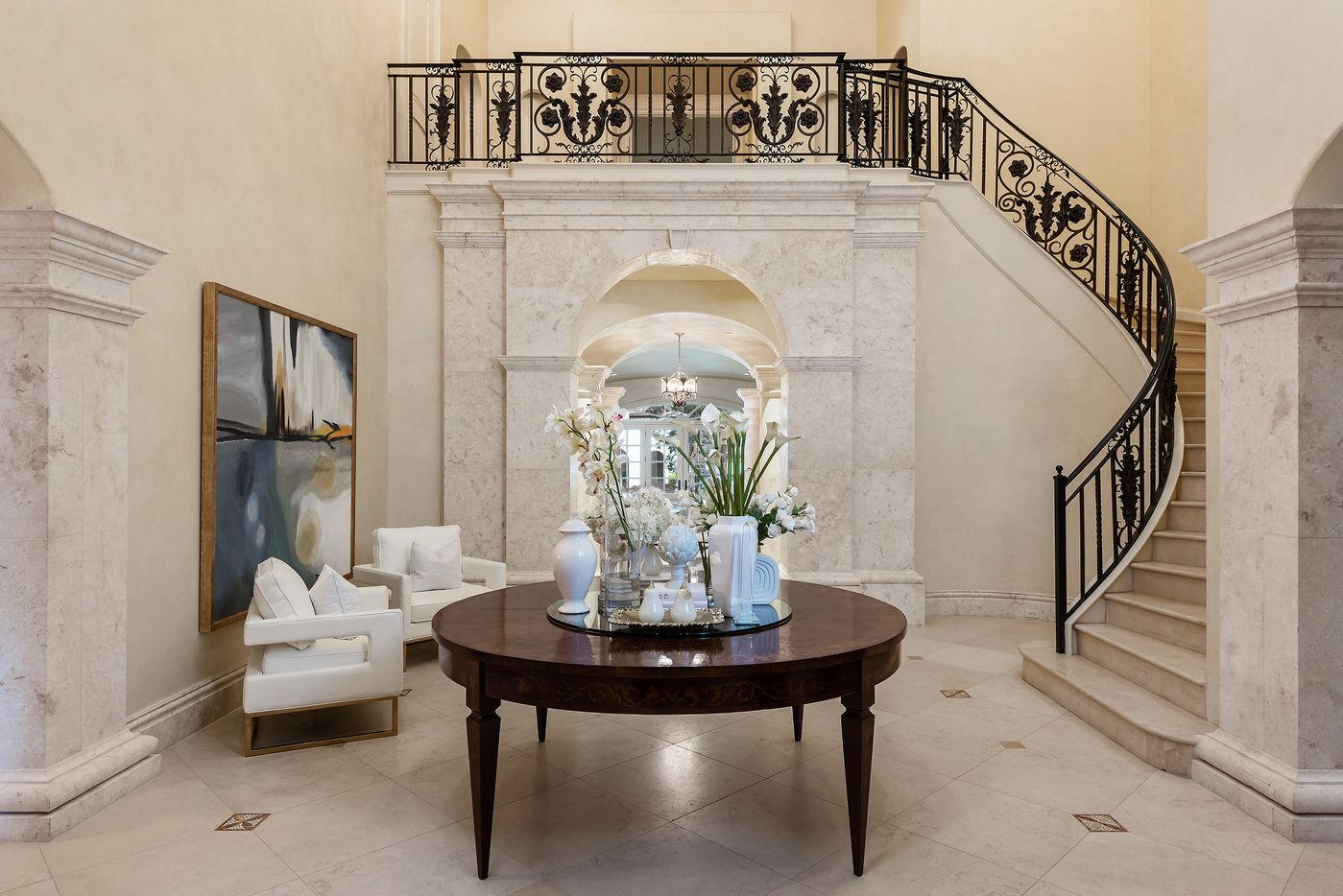 Take a look at the home at 5210 Deloache Ave. in Dallas. The home has seven bedrooms, eight bathrooms and two half-bathrooms.