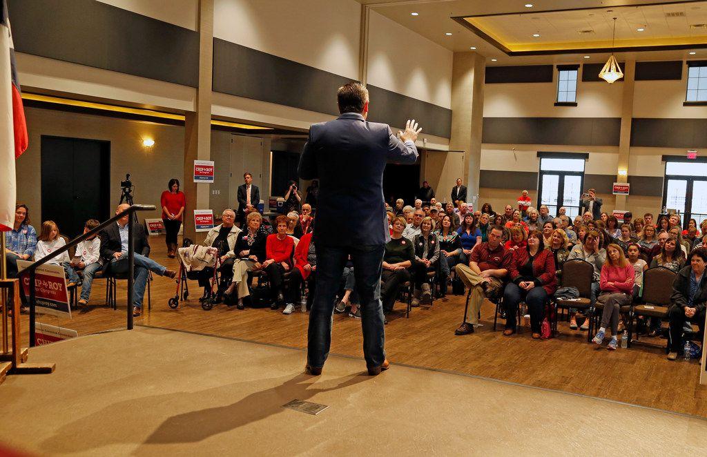 Sen. Ted Cruz campaigned in New Braunfels on Feb. 10.