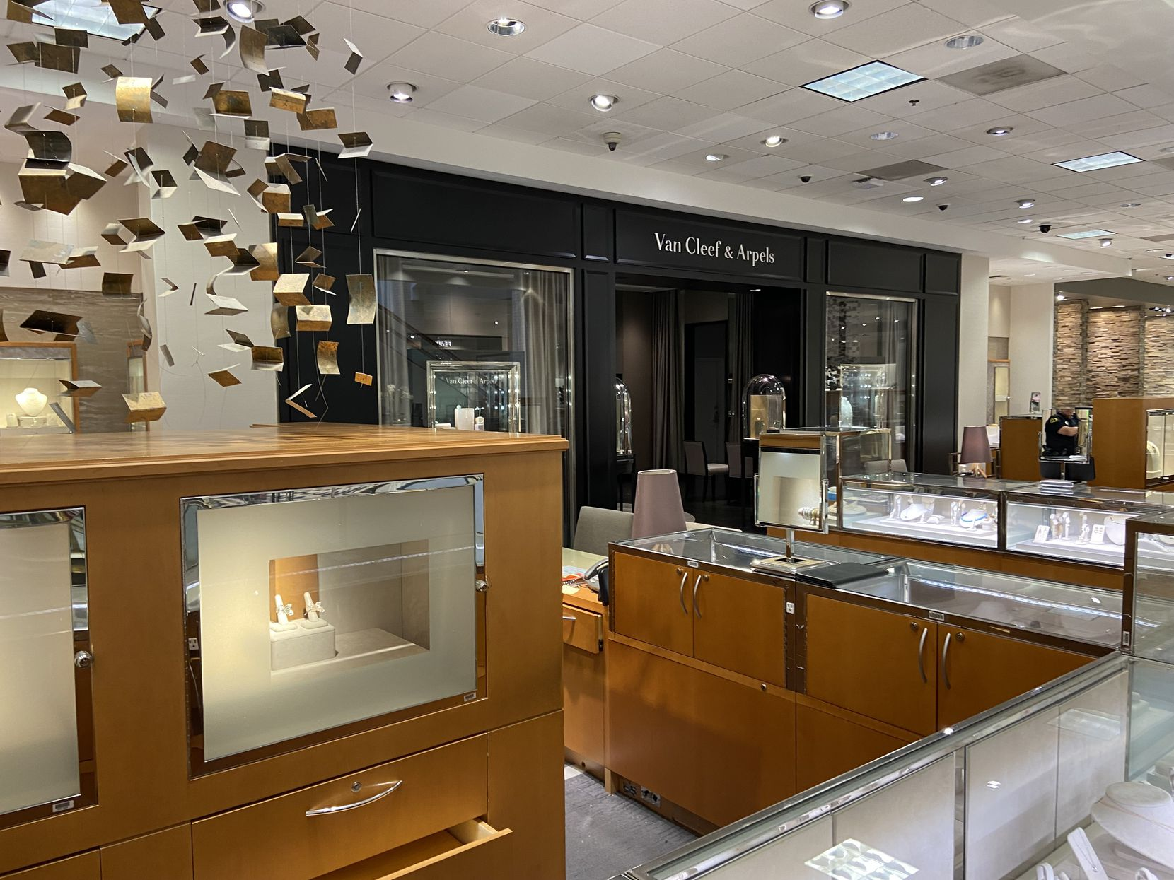 The Van Cleef & Arpels shop on the second level of Neiman Marcus at NorthPark Center in Dallas.