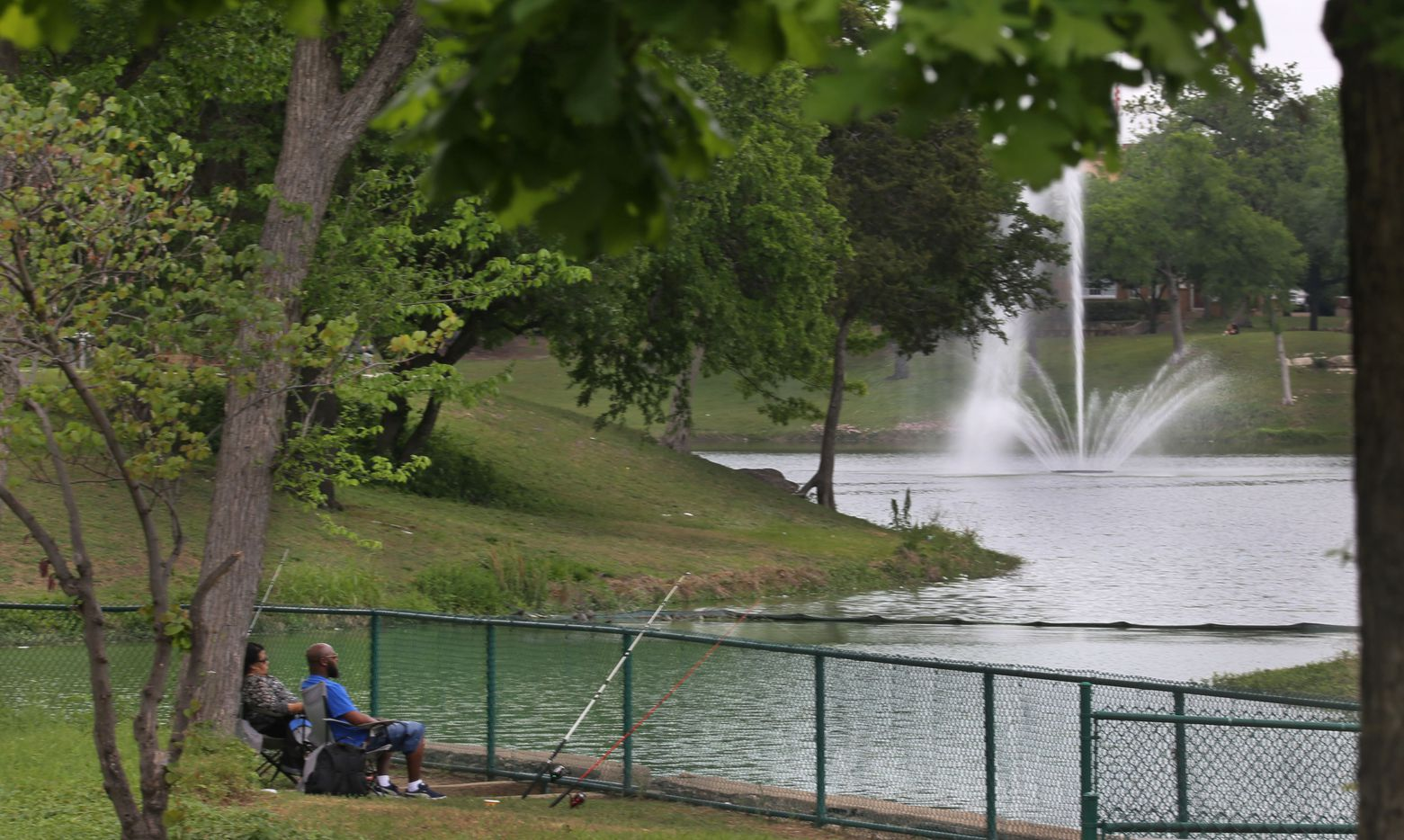 You can enjoy a relaxing afternoon of fishing at the Lake Cliff Park, 300 E. Colorado Blvd., on the route of the Oak Cliff streetcar south of downtown Dallas on Wednesday, April 12, 2017.