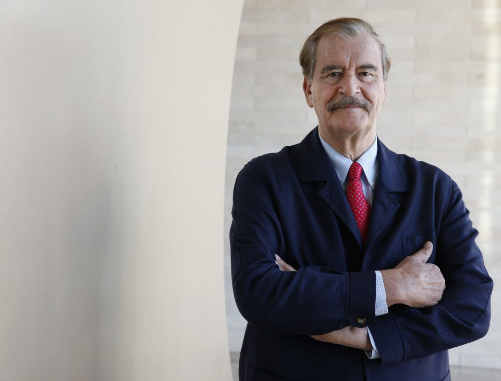 Former Mexico's President Vicente Fox was in Dallas meeting with investors for Mexico's energy reforms on Monday, October 27, 2014. Shot at the Omni Dallas Hotel. (David Woo/The Dallas Morning News)
