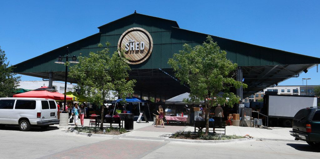 Exterior view of The Shed at the Dallas Farmers Market.
