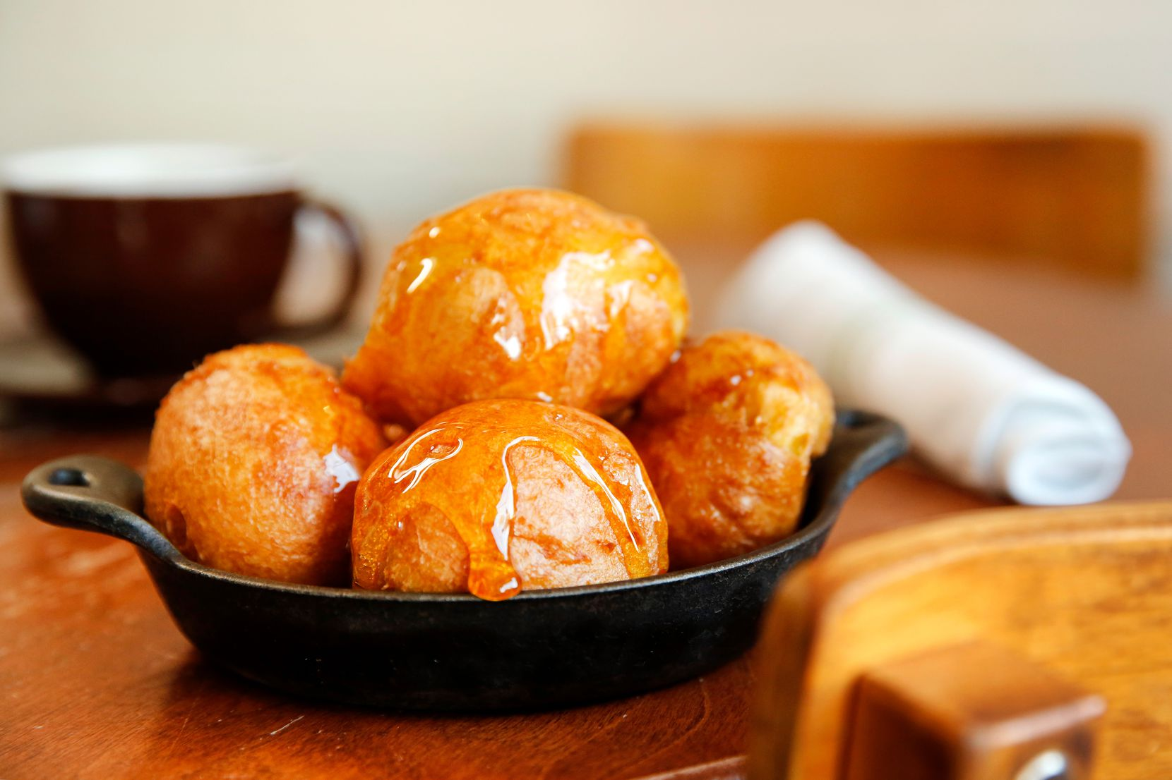 Fashioned from eggy pate a choux and drizzed with local honey, Oddfellows' beignets are light and disappear-in-a-flash fabulous.