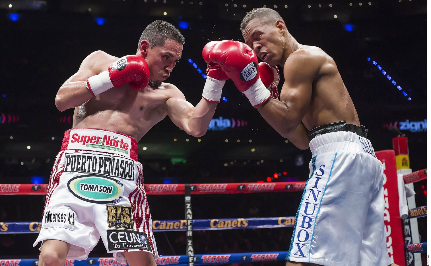 """Junto con Juan Francisco """"Gallo"""" Estrada (izq.), Saúl Álvarez está dentro del Top 10 de los mejores peleadores libra por libra."""