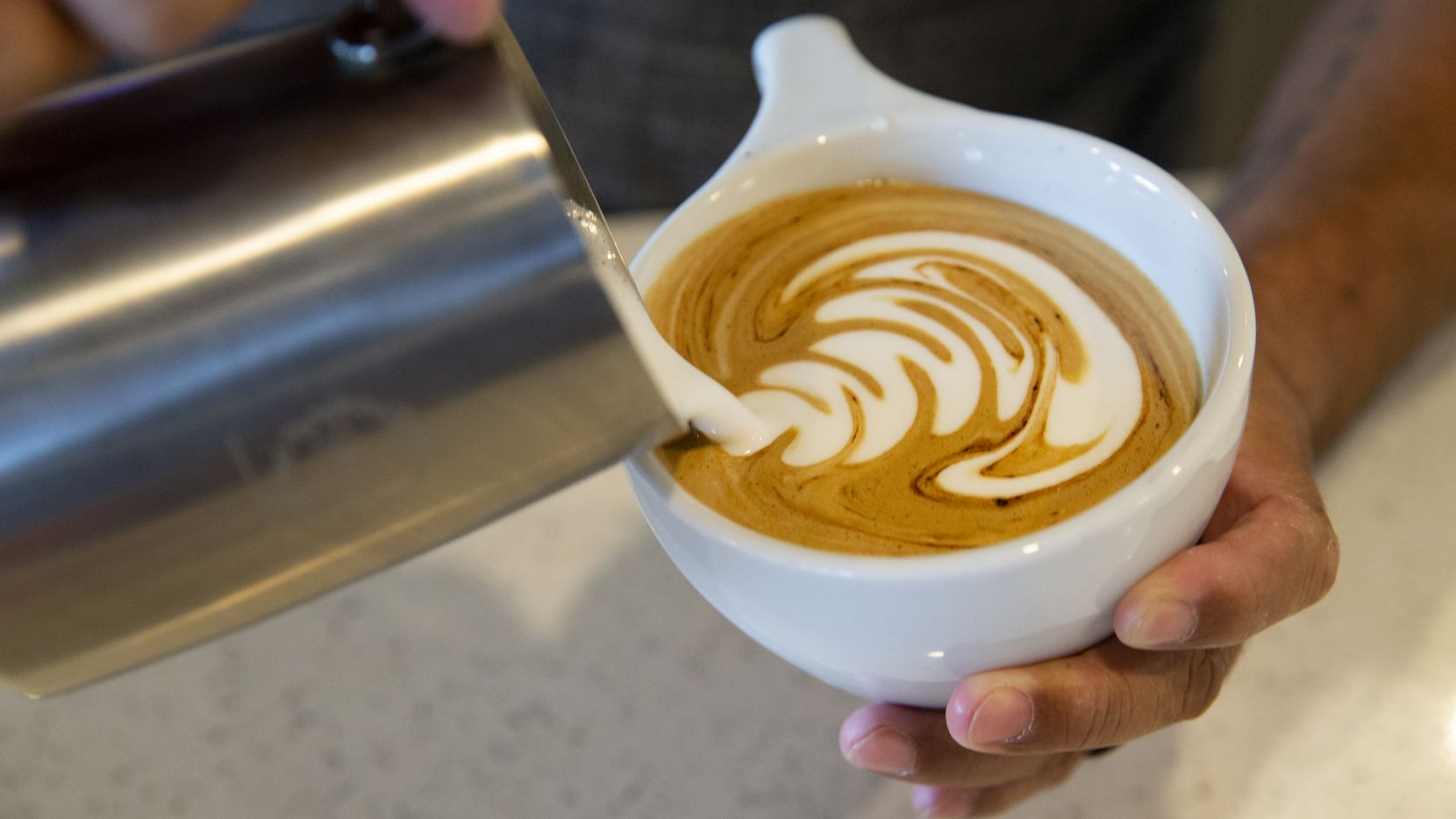 A drink is made at Gold & Grounds Coffee Co. on Sept. 14, 2020 in Arlington. We have gathered locations in Allen where you can celebrate International Coffee Day, Sept. 29.