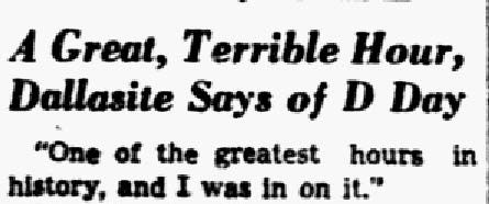 Headline and excerpt from a story published on July 14, 1944.
