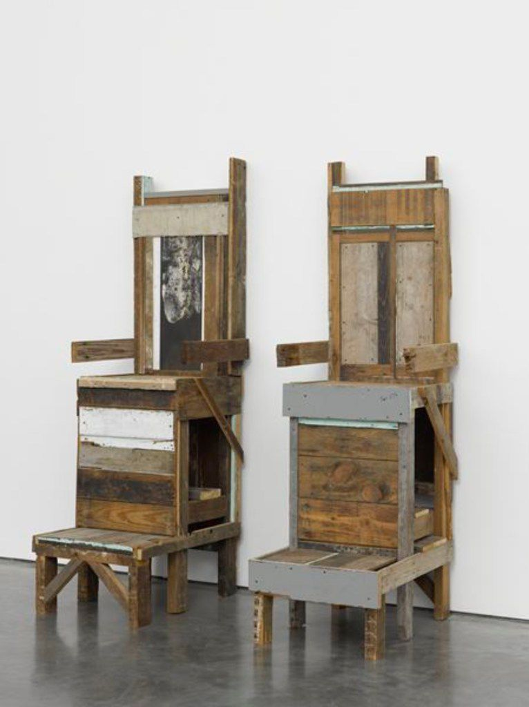 Shoe Shine Stands, a piece of sculpture created by Nasher Prize winner Theaster Gates.