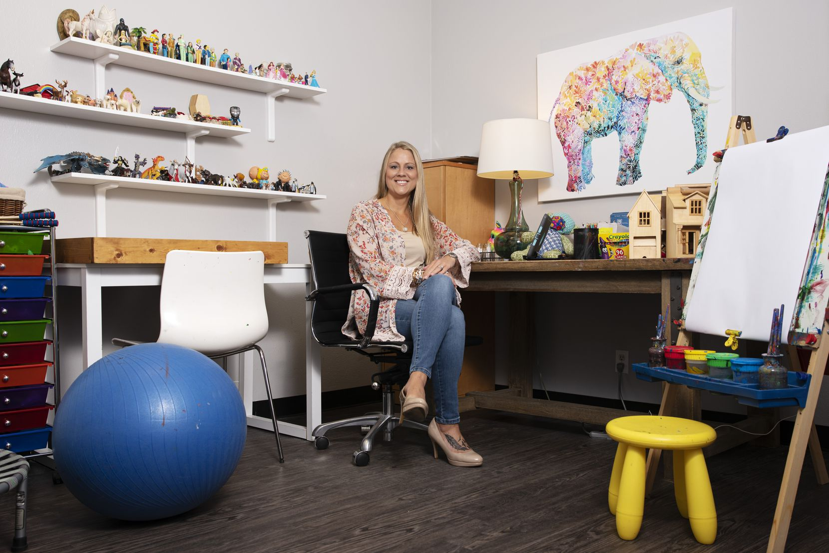 Brooke West, a licensed professional counselor supervisor and owner-director of HOPE Child and Family Center of Texas, inside her office at the center in Dallas, June 17, 2020. Ben Torres/Special Contributor
