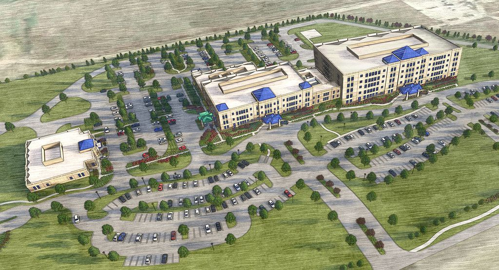 Cook Children's of Fort Worth plans to build this hospital in Prosper, just 3 miles from an even larger project planned by Children's Health of Dallas.