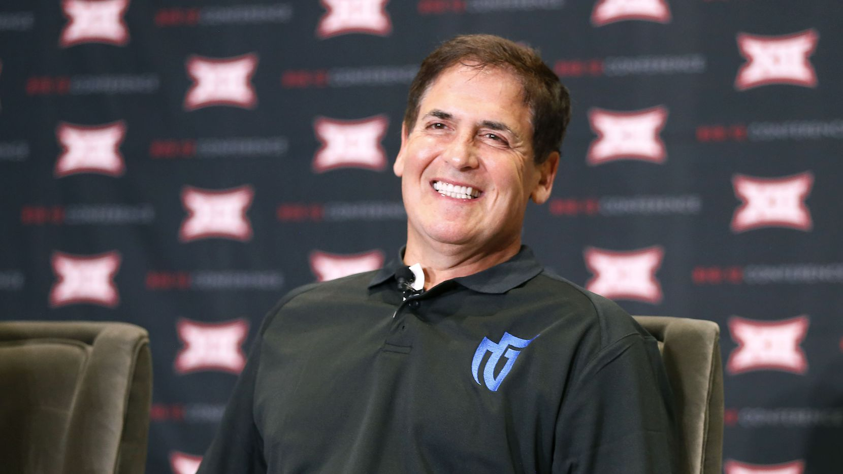 Mark Cuban, owner of the Dallas Mavericks and the NBA franchise's Mavs Gaming NBA 2K team, smiles during a panel discussion on eSports at the Big 12 Conference's state of college athletics forum at Statler Hotel in Dallas, Wednesday, May 23, 2018. (Jae S. Lee/The Dallas Morning News)
