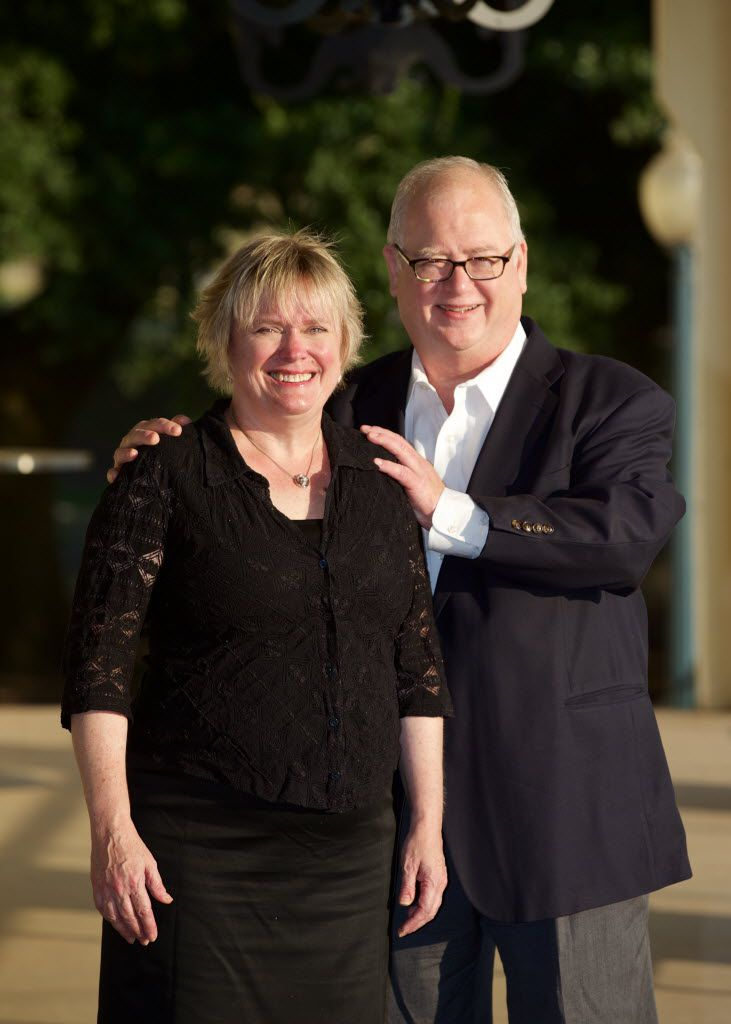 Barbara Weinberger and Kurt Kleinmann of Pegagus Theatre at the Bath House Cultural Center in Dallas. (Brandon Wade/Special Contributor)