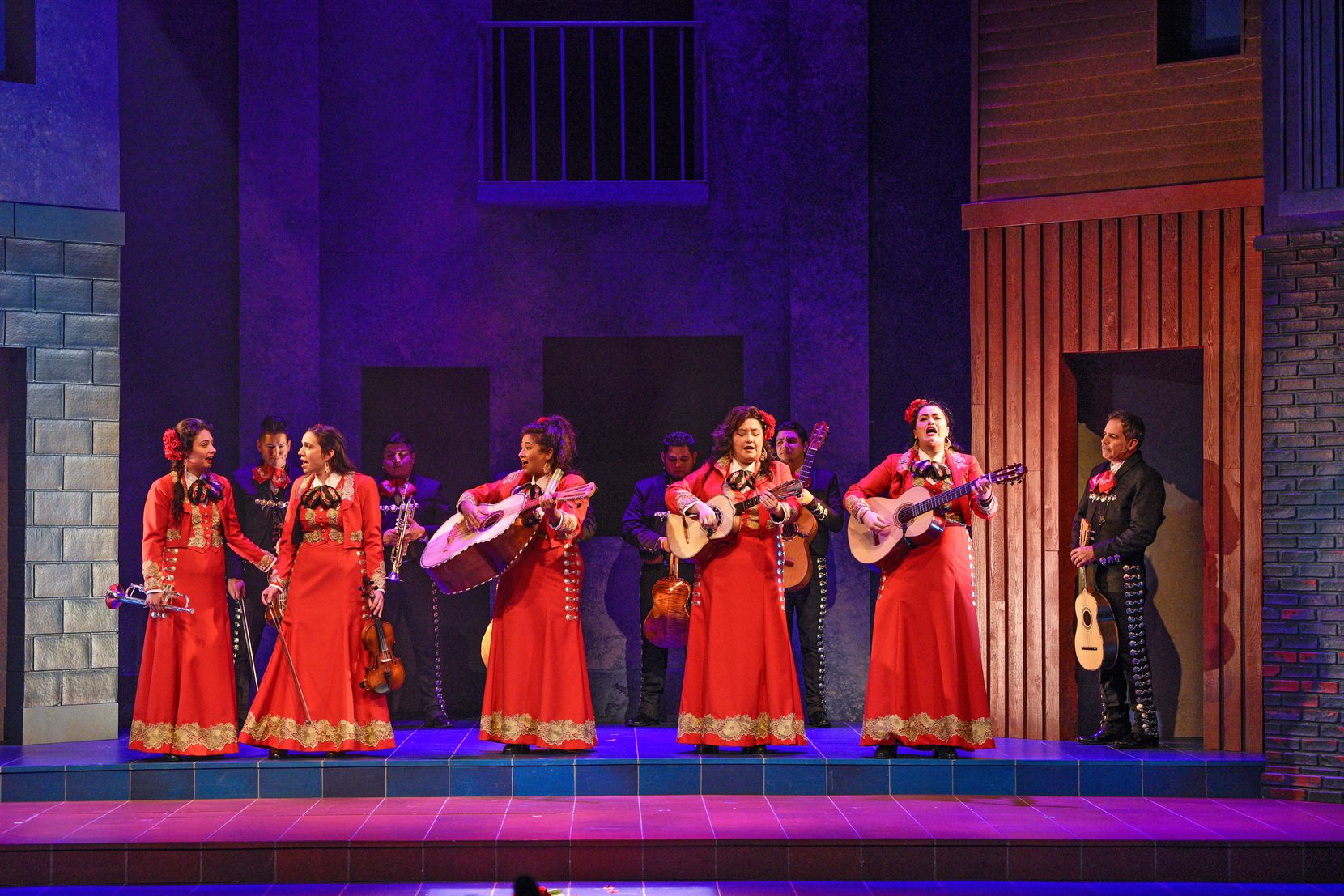 "The members of Las Coronelas, an all-female mariachi band, get all dressed up to play their first major gig in ""American Mariachi."""