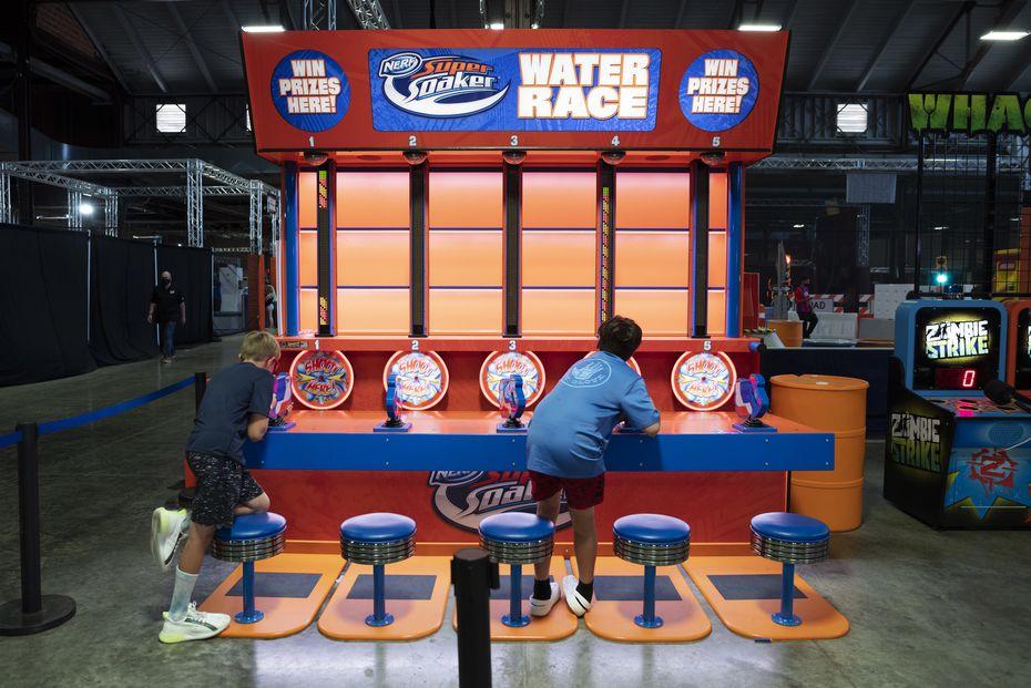 Nerf Challenge tiene lugar en el Centennial Hall de Fair Park, en Dallas.