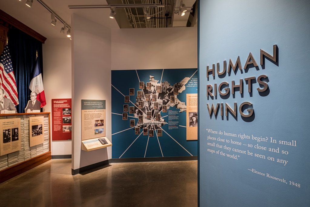 The Human Rights Wing of the Dallas Holocaust and Human Rights Museum shows how the world progressed in the years after the Holocaust.
