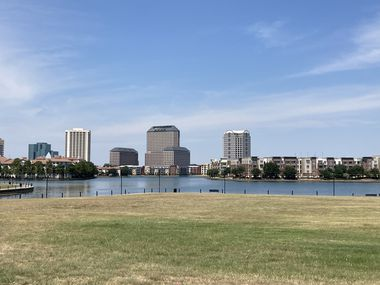 The more than 5-acre site is at the south end of Lake Carolyn.