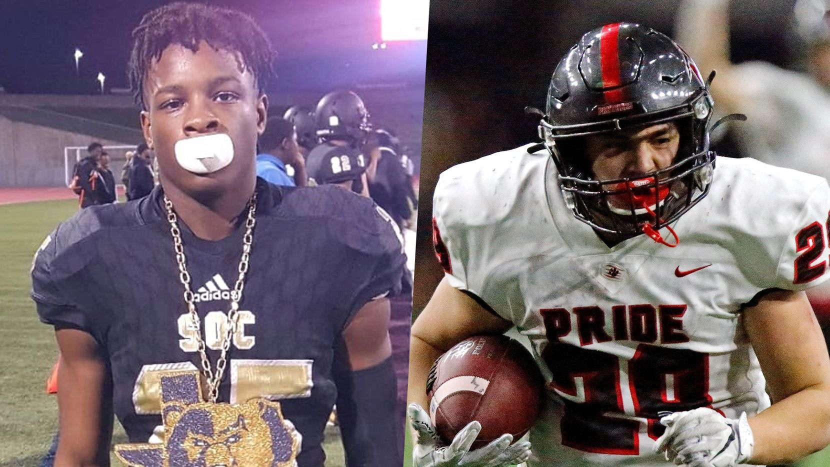 South Oak Cliff's Cameron Brown (left) and Colleyville Heritage's Braxton Ash.