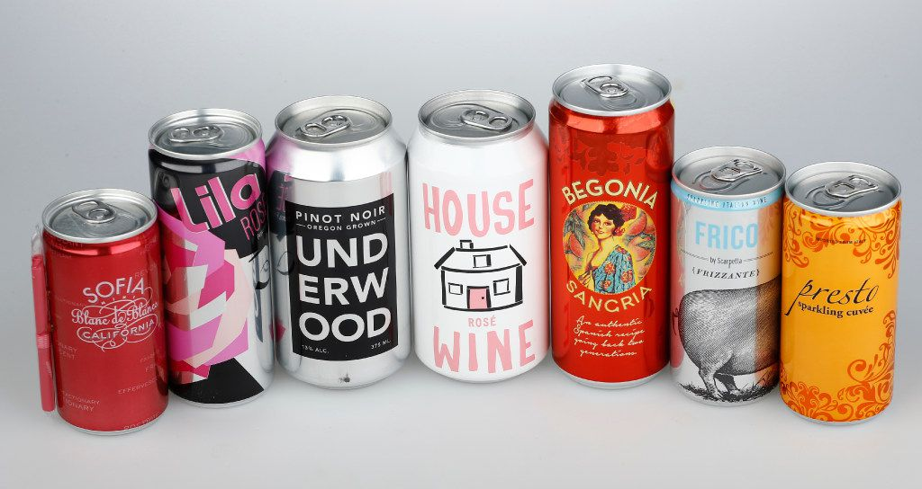 A selection of canned wines
