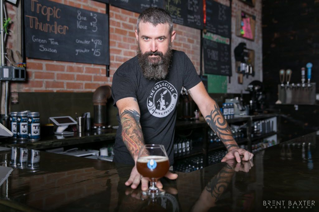 Tony Drewry, Indie Beer Consultant, in a photo by Brent Baxter for Baxter's book, #BestBeardsInDallas.