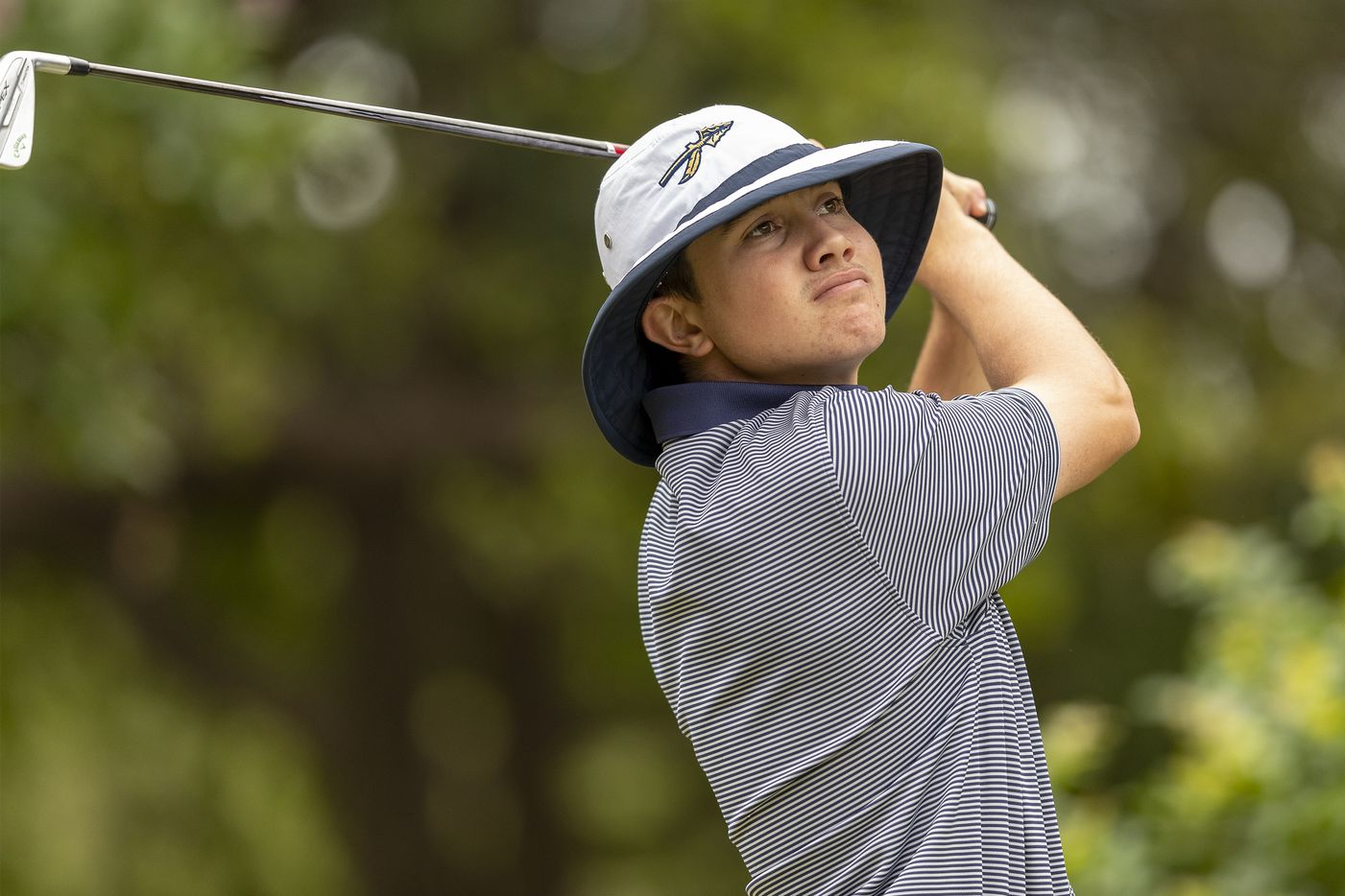 KellerÕs Kaelen Dulany hits on the 1st tee box during the final round of the UIL Class 6A boys golf tournament in Georgetown, Tuesday, May 18, 2021. (Stephen Spillman/Special Contributor)