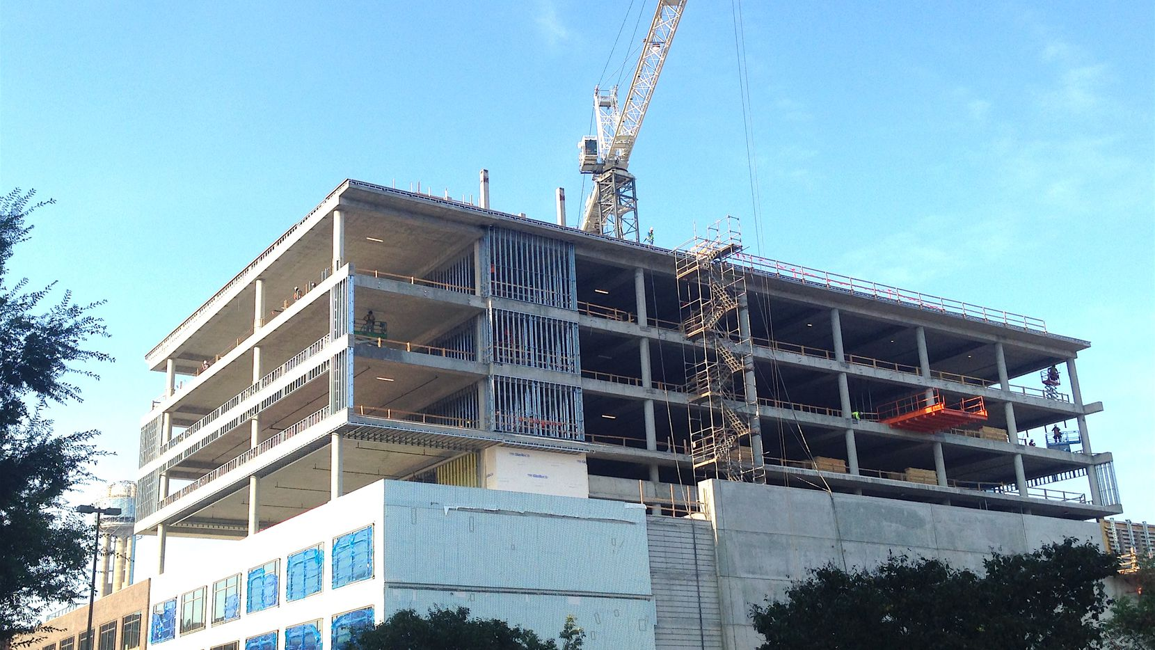 Crescent Real Estate's new Luminary building in the West End has topped out construction.