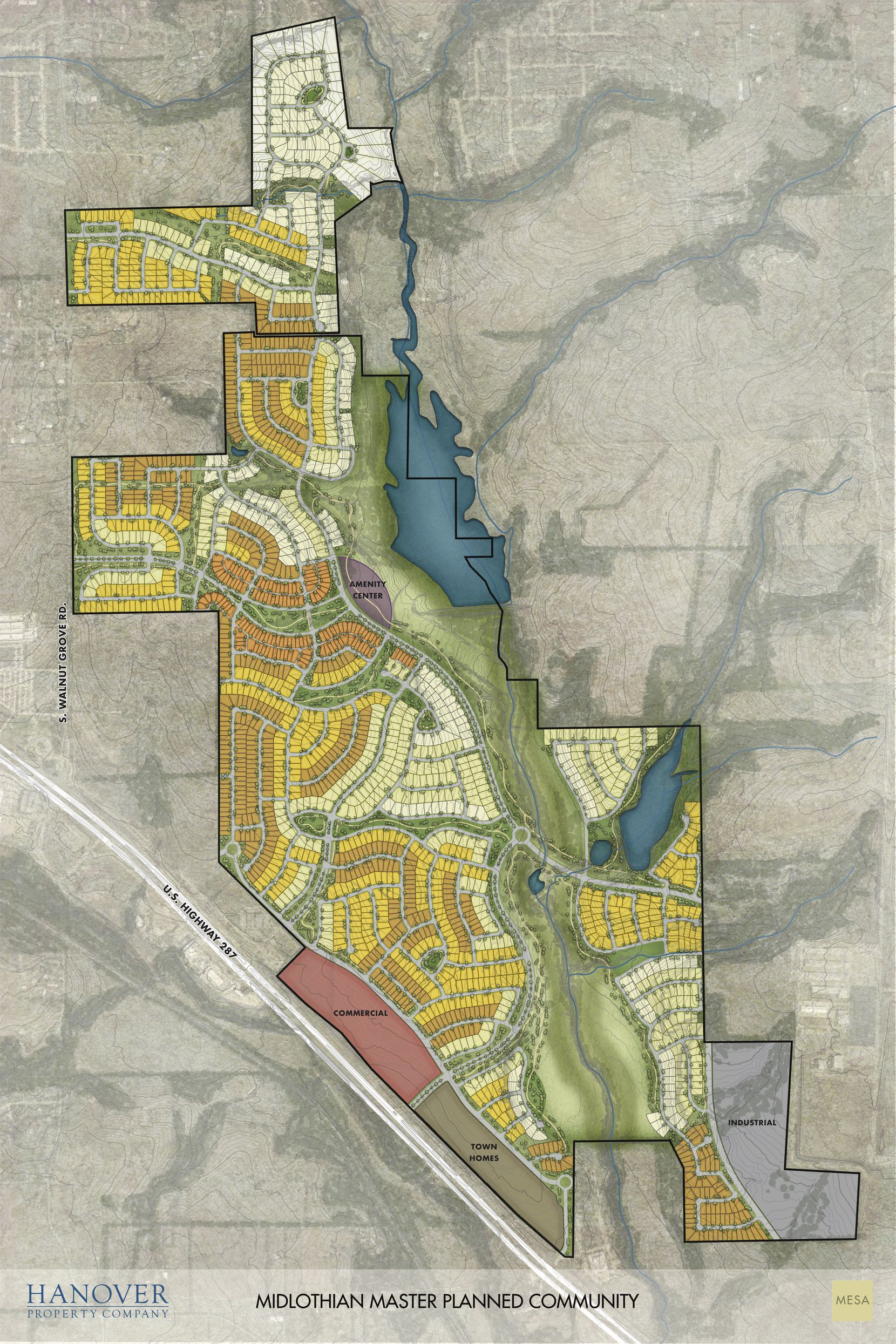 Hanover Property's new development is planned on the north side of U.S. 287.