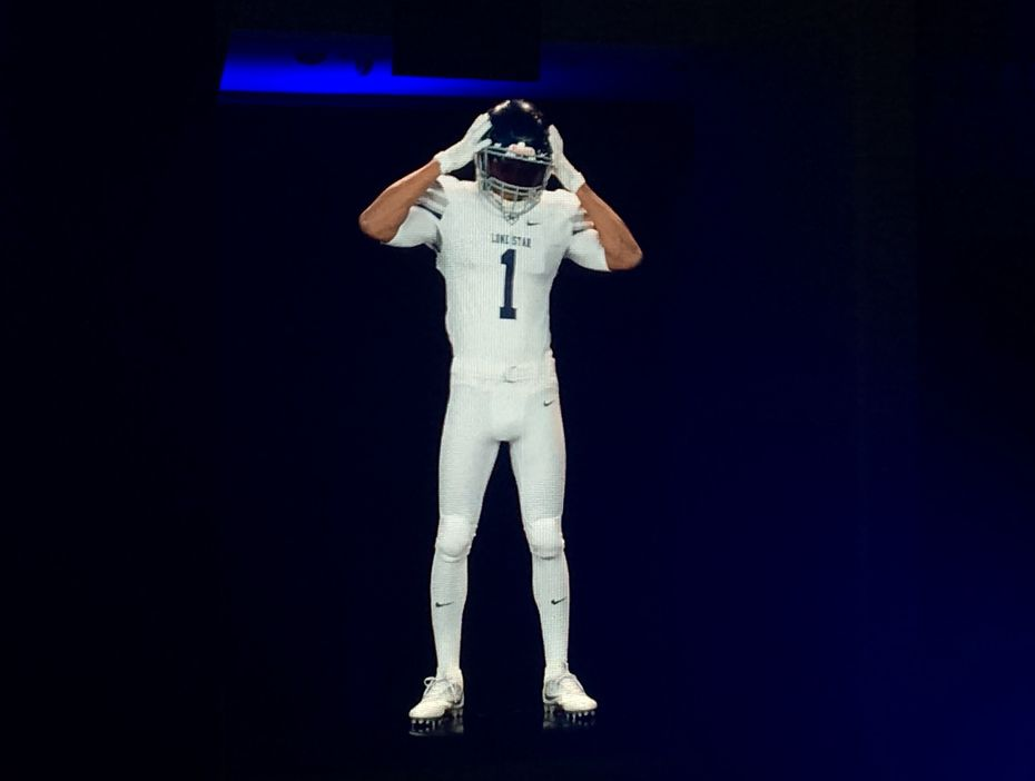 This hologram shows the color rush uniform for Lone Star High School.