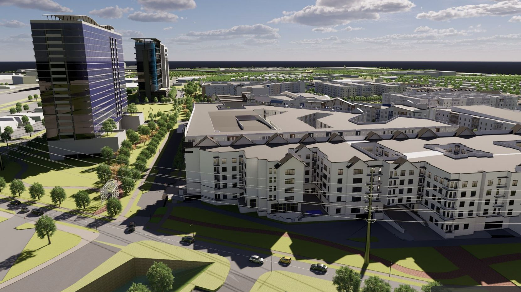 New apartments, retail and offices are included in the redevelopment of Collin Creek.