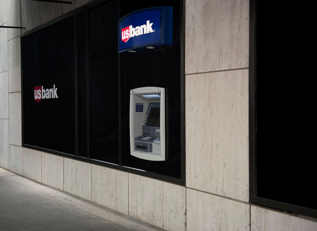 A U.S. Bank ATM. The company, after a series of mergers at the turn of the 21st century, formally took on the U.S. Bank name and established its headquarters in Minnesota.