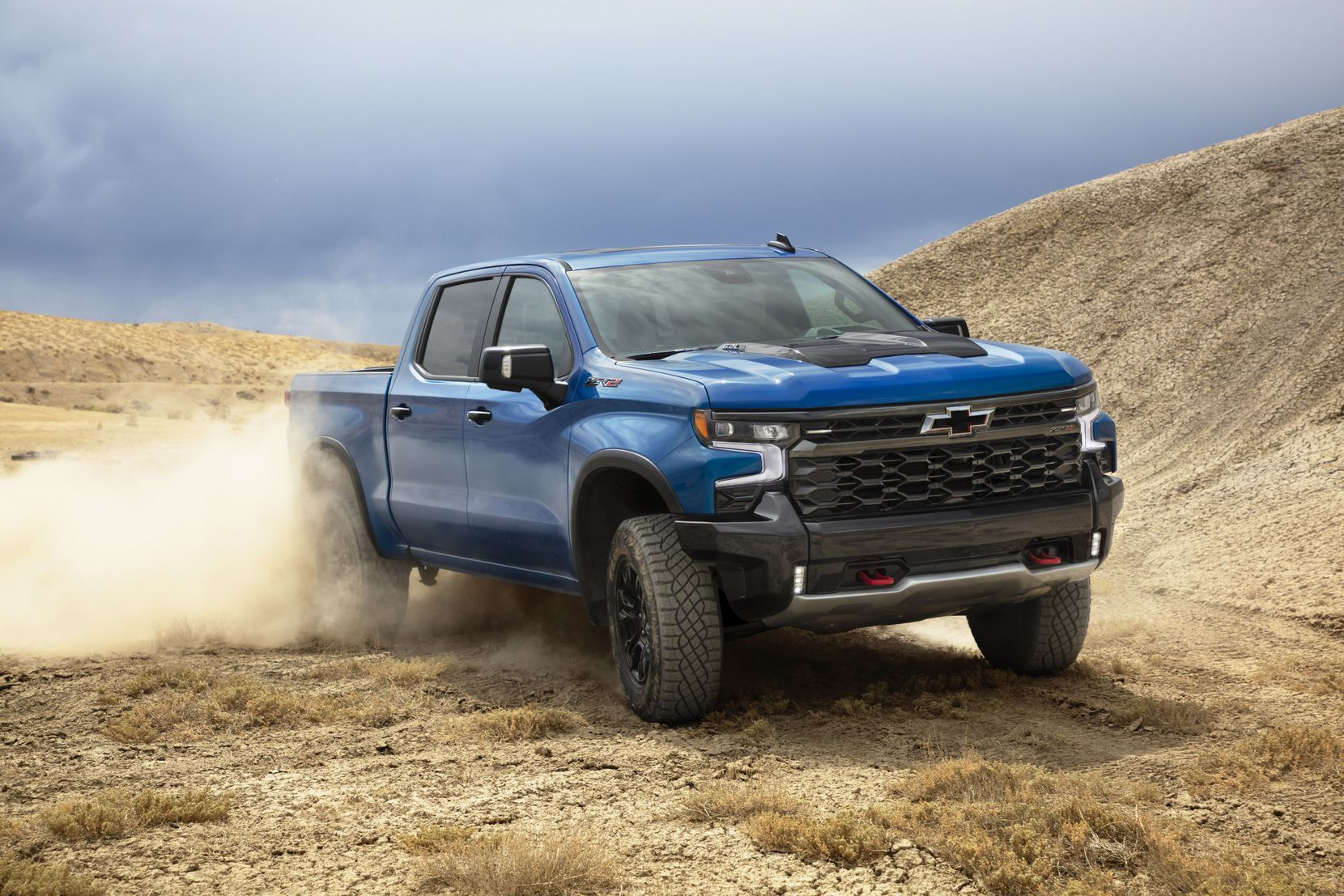The flagship, off-road ZR2 is a showpiece for Chevrolet performance.