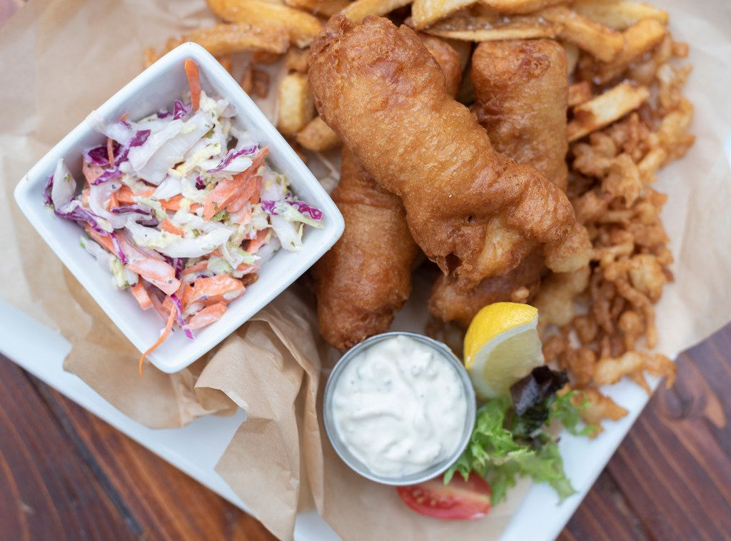 Fish and chips is one of several entrees at White Rock Alehouse and Brewery.