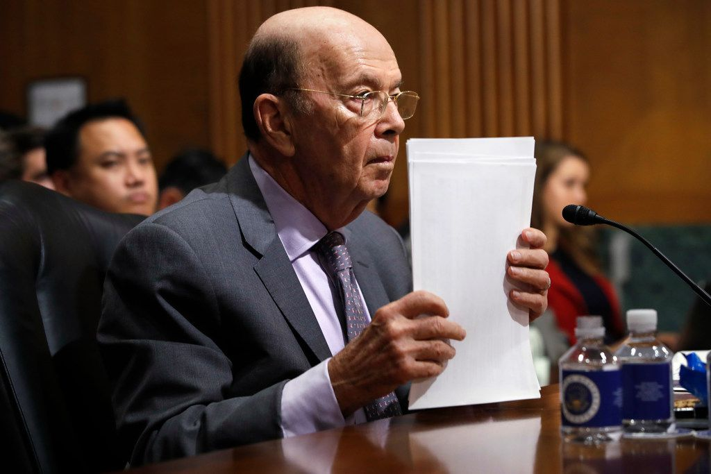 Secretary of Commerce Wilbur Ross testified during a Senate Finance Committee hearing on tariffs on June 20, 2018.