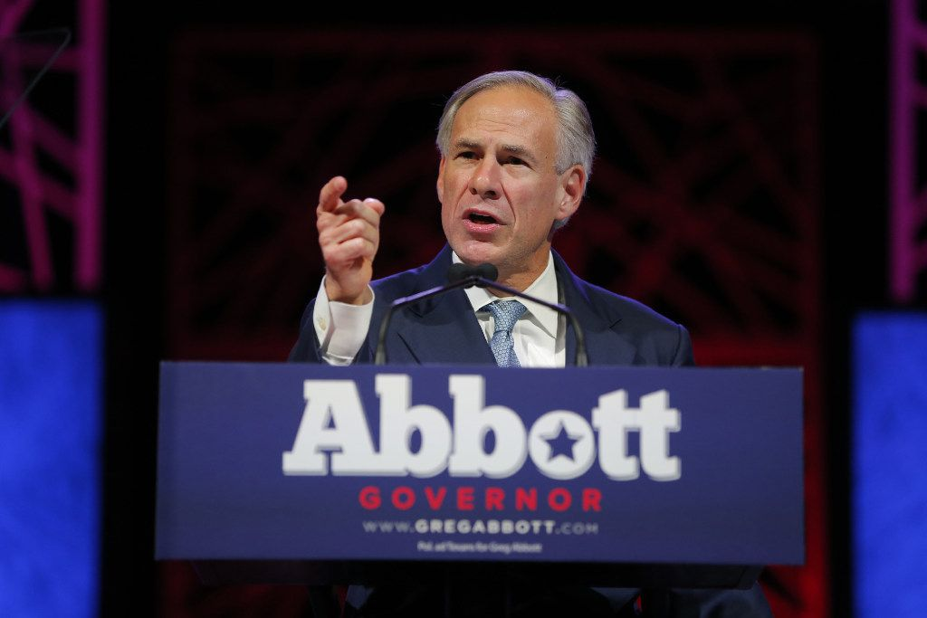 Gov. Greg Abbott speaks at the Republican Party of Texas State Convention at the Kay Bailey Hutchison Convention Center in Dallas on May 12, 2016. (Rodger Mallison/Fort Worth Star-Telegram/TNS)