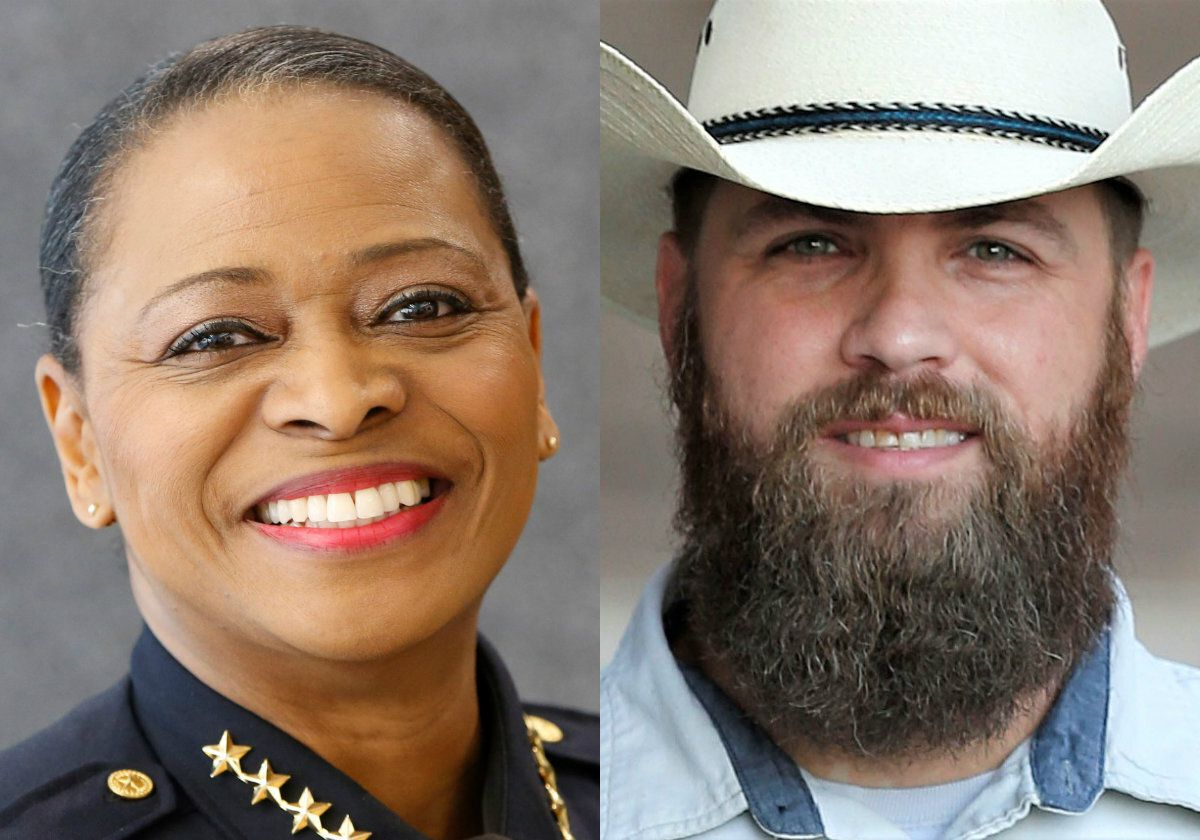 Democratic Dallas County Sheriff Marian Brown (left) and Republican Chad Prda.