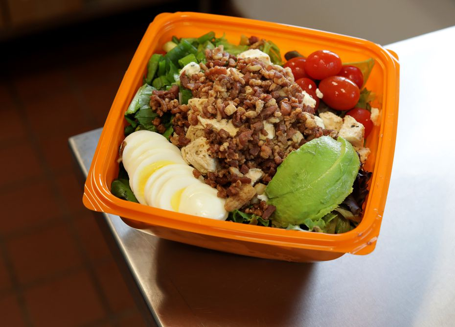 Salads like the Cobb with Chicken cost $5.74 at Salad and Go.