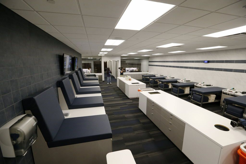 Training room at the Dallas Cowboys new headquarters at The Star in Frisco on Sunday, August 21, 2016. The Star, is a joint project with the City of Frisco, and Frisco ISD. (Vernon Bryant/The Dallas Morning News)