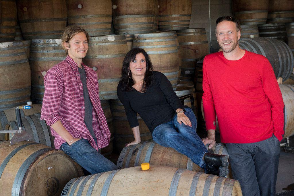 Pascal Brooks, Janie Brooks Heuck and winemaker Chris Williams of Brooks Wine in Oregon