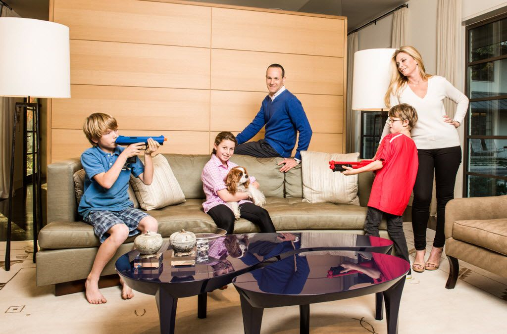 The Brodskys were featured in the February 2013 issue of FD Luxe magazine. From left: Jacob, Katie, Peter, Luke and Lael Brodsky.
