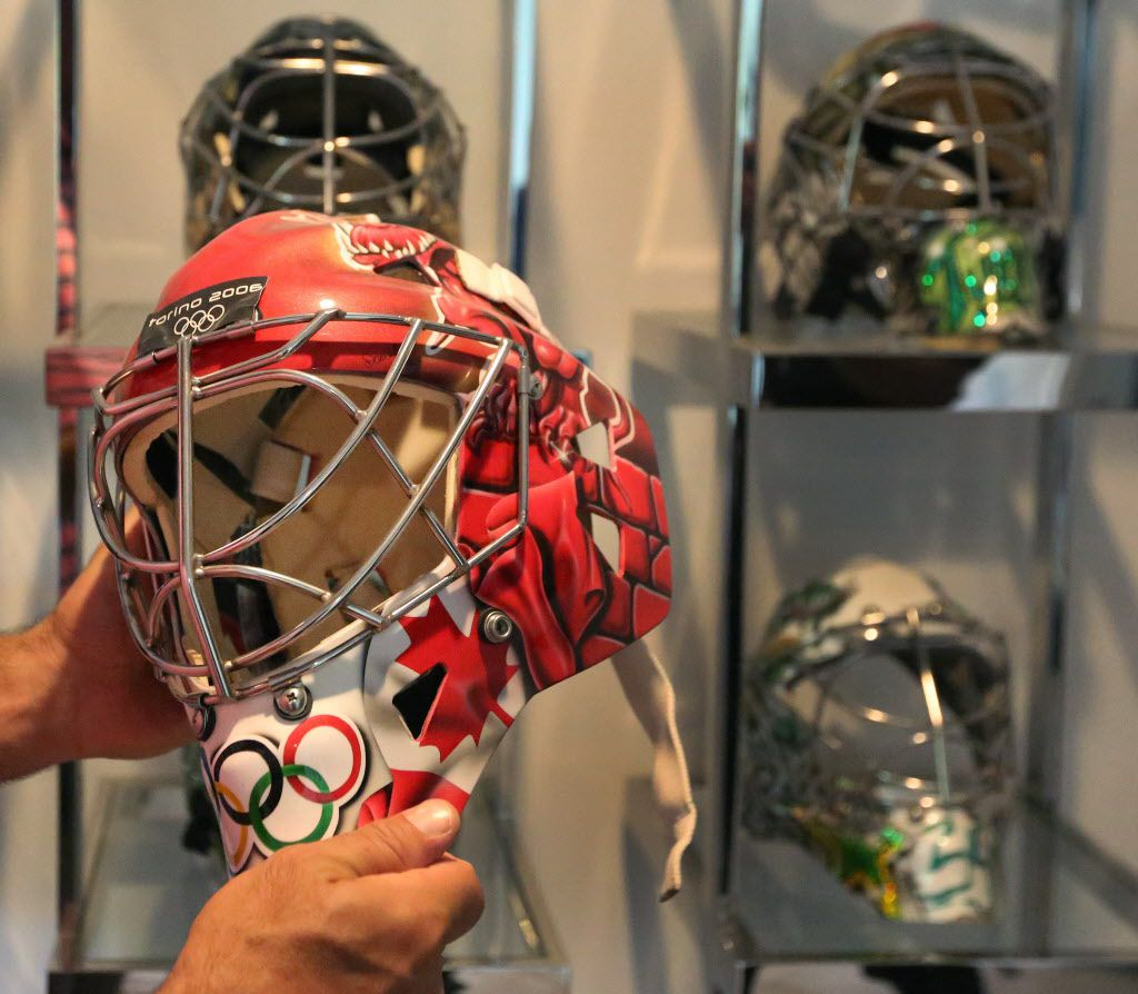 Marty Turco's New Boston Bruins Mask and Gear - InGoal ...  |Marty Turco Mask