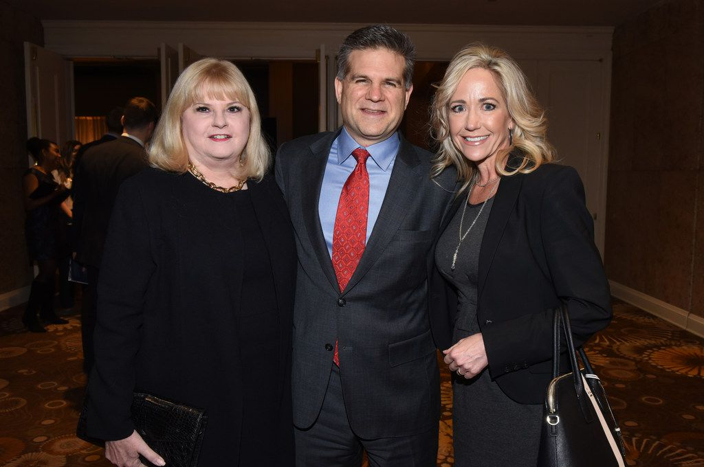Linda Perryman Evans, John Meadows and Elise Meadows at Dallas CASA's annual dinner in November. The Meadows Foundation received this year's Judge Barefoot Sanders Champion of Children Award.