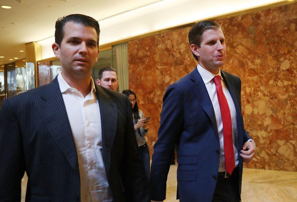 Donald Trump Jr. (left) and Eric Trump (Spencer Platt/Getty Images)