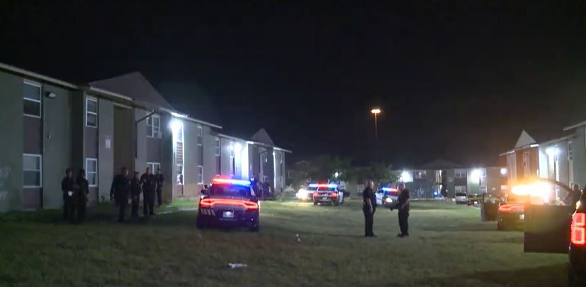 Dallas police responded to a shooting just after midnight Sunday at the Ridgecrest Apartments in the 3609 block of Plum Grove Lane.