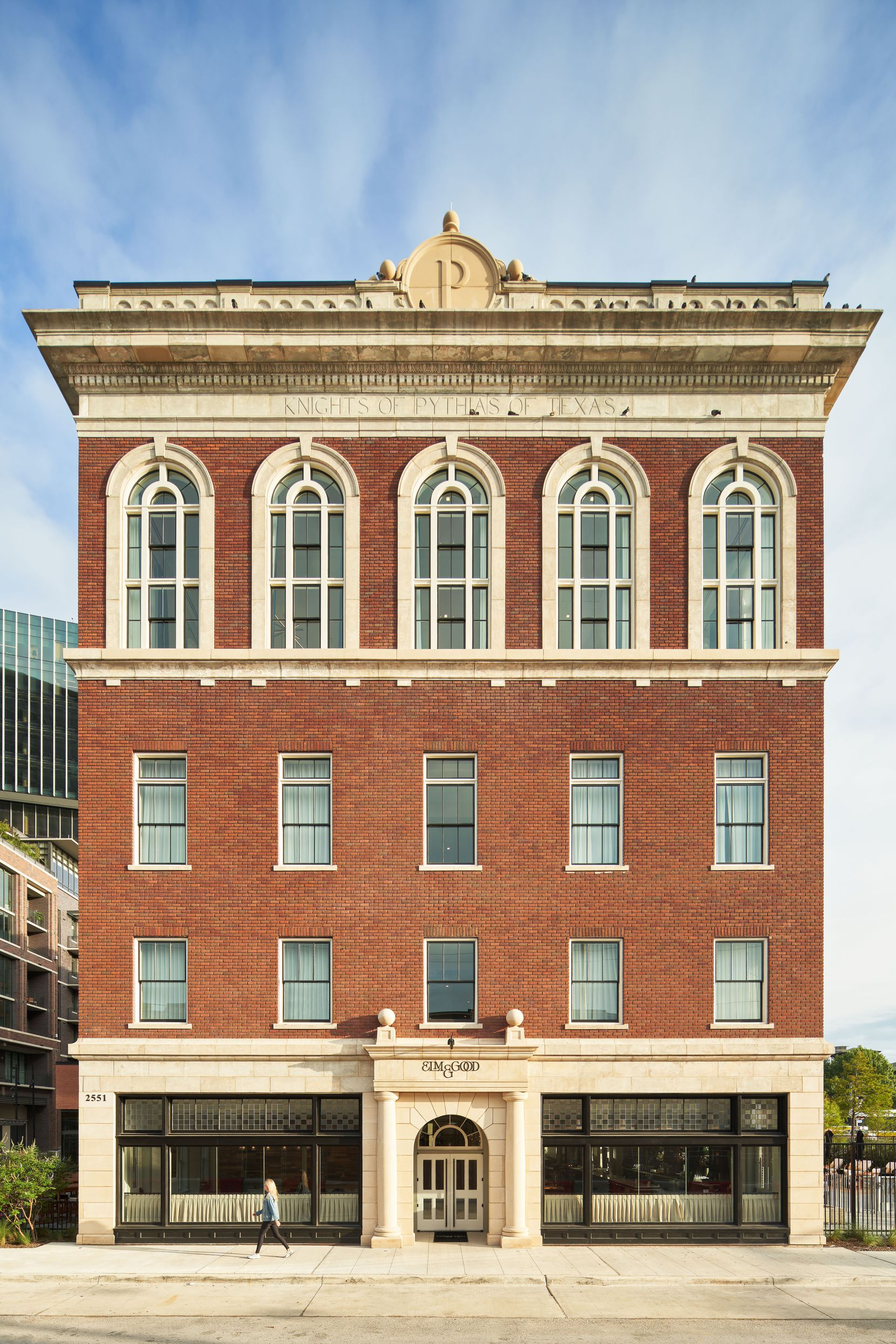 The red brick exterior of the former Knights of Pythias Temple has been conscientiously restored. Deep Ellum has been subjected to such a paroxysm of luxury development that the advocacy group Preservation Dallas put it on this year's Most Endangered Historic Places list.
