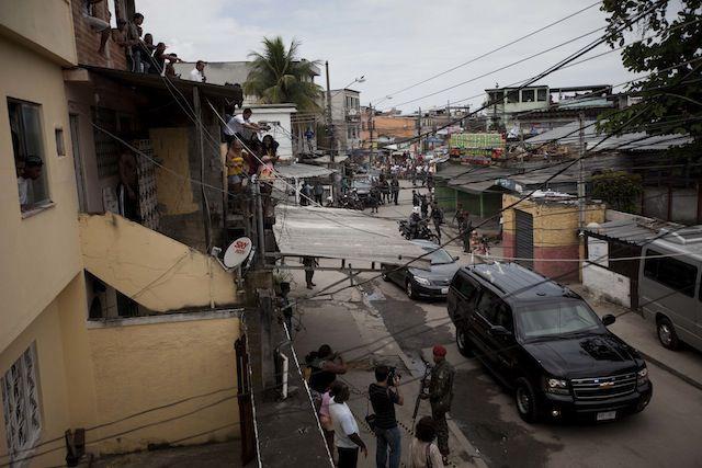 La favela Ciudad de Dios recibió la visita del presidente Barack Obama en 2011.