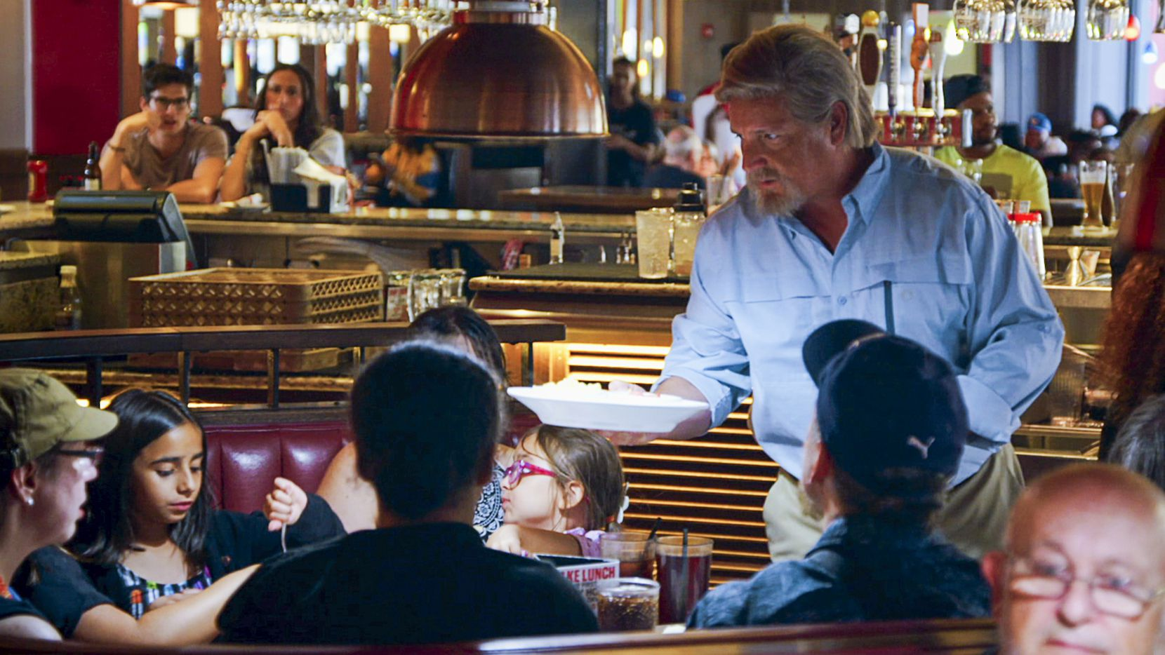 TGI Fridays CEO Ray Blanchette wore a costume — hair and makeup included — for CBS show 'Undercover Boss.' The show was filmed in fall 2019 and airs Oct. 2, 2020.