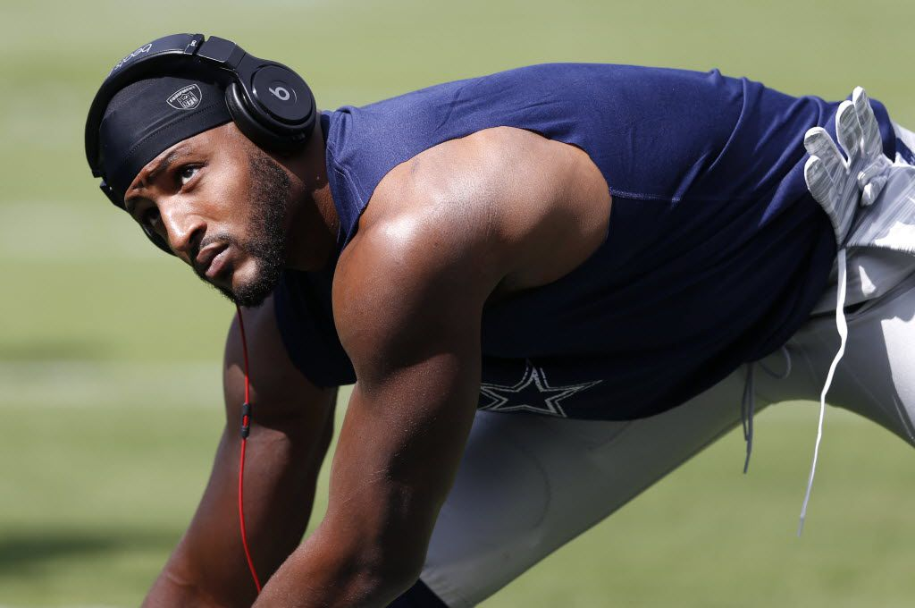 Dallas Cowboys strong safety Barry Church (42) stretches before a game against the Philadelphia Eagles at Lincoln Financial Field in Philadelphia, on Sunday, September 20, 2015. (Vernon Bryant/The Dallas Morning News)