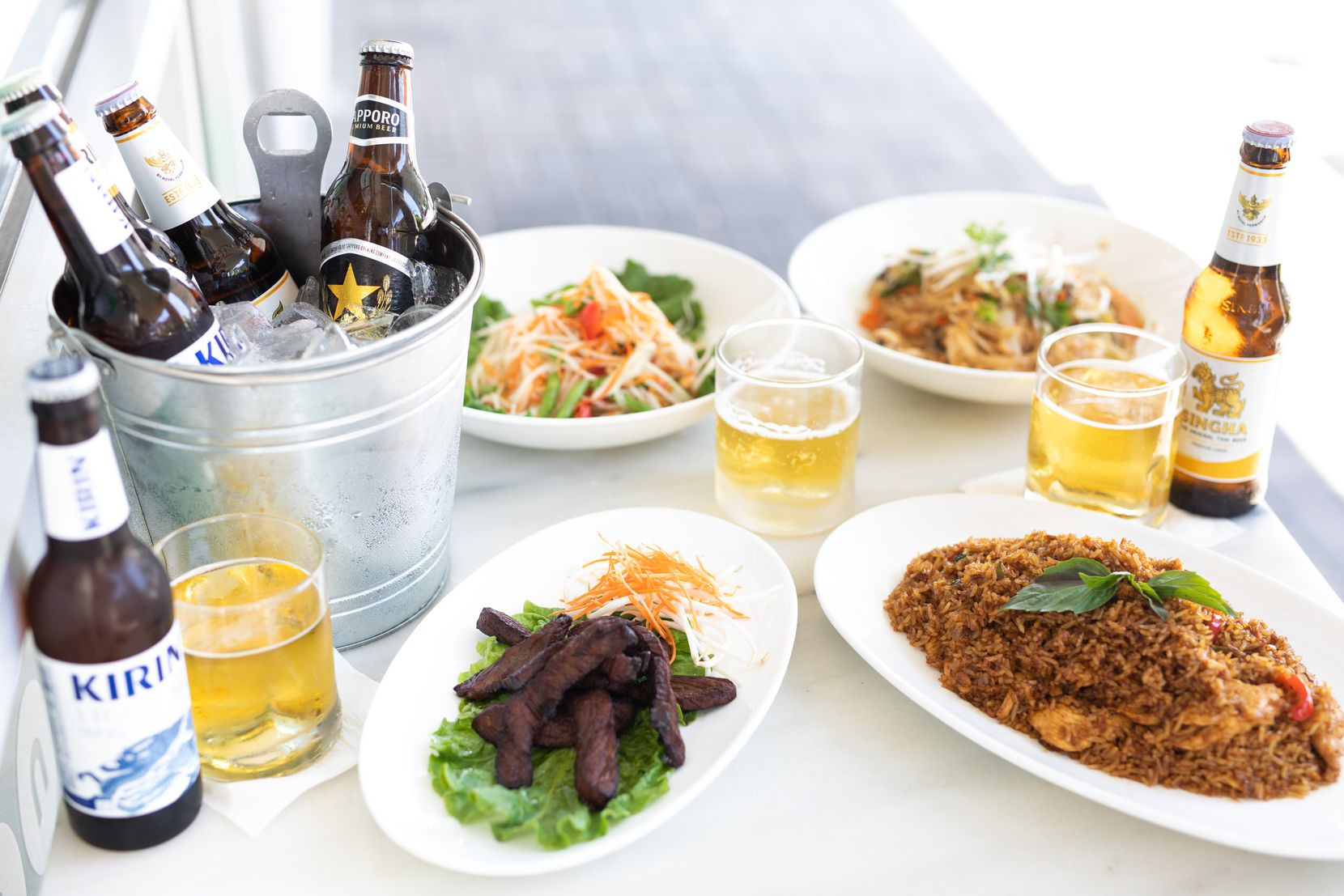 Asian Mint offers its Father s Day Mint Chef at Home kit. The kit includes Thai beef jerky, papaya salad, green basil fried rice, pad woon sen and a six-pack of Asian beer.