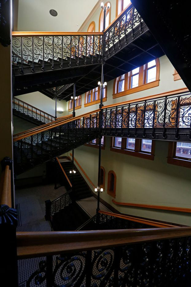 The Old Red Museum will remain open throughout the construction work, which staff said won't affect exhibits or the private events hosted at the courthouse throughout the year. Shown here is the grand staircase, photographed on Friday.