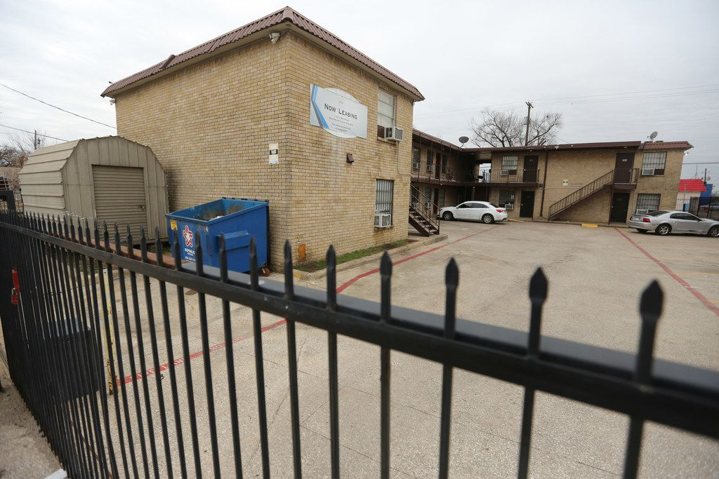 The back gate at the 14-unit apartment complex located at 3006 Holmes St. in South Dallas now closes.