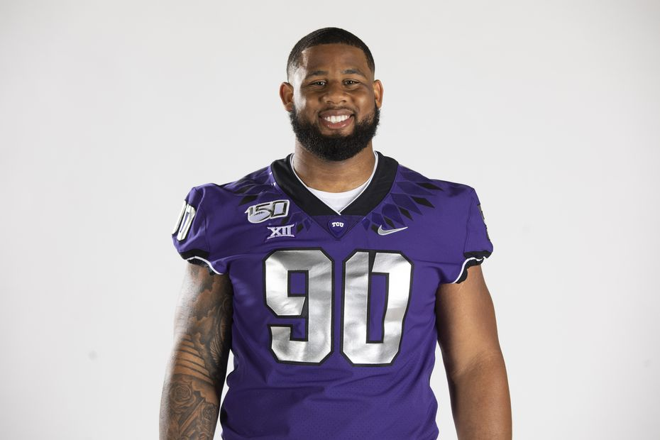 Texas Christian University Football #90 Ross Blacklock photographed at TCU in Fort Worth, Texas on July 24, 2019.    TCU Football Contact Mark Cohen m.cohen@tcu.edu