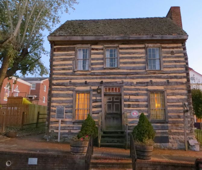 A little west of Bristol, Tennessee is little downtown Blountville, where you'll find the Anderson Town House, a log cabin built in 1795. That's where the Traditional Appalachian Music Heritage Association holds Friday evening jam sessions.